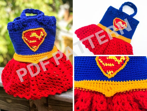 Supergirl Crochet Purse Pattern (PDF file only) - inspired by DC Comics