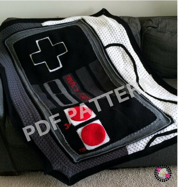 Game Controller Graphghan Blanket Pattern (PDF file only) - inspired by Nintendo