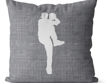 SALE Baseball pitcher pillow cover, gray and white, sports bedroom decor for boy, teen room bedding, athlete bedroom decor