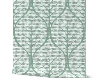 eucalyptus green wallpaper with large leaves on white wall covering, temporary wall decor, peel and stick removable or water activated