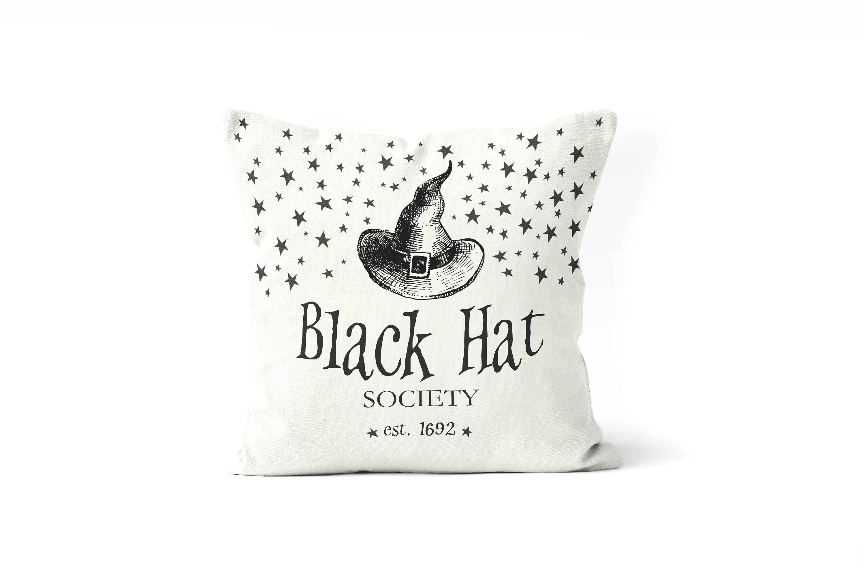 Witch Pillow Cover Farmhouse Halloween Decormodern Porch Front Decor Black And White