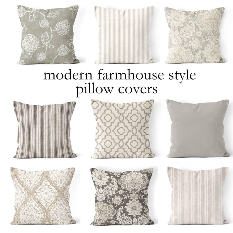 throw pillow coversmix and match farmhouse pillow cover image 0