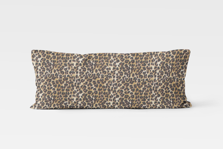 Decorative Body Pillow Cover 20x54 Inch Animal Print Bedding Boho Bedroom Decor Neutral Bedroom Ideas Master Bedroom Leopard Print Decor