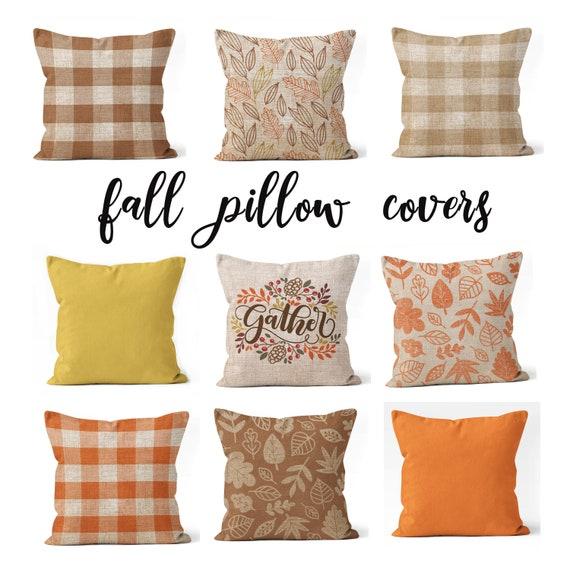 Farmhouse fall pillow covers 18x18 | Etsy