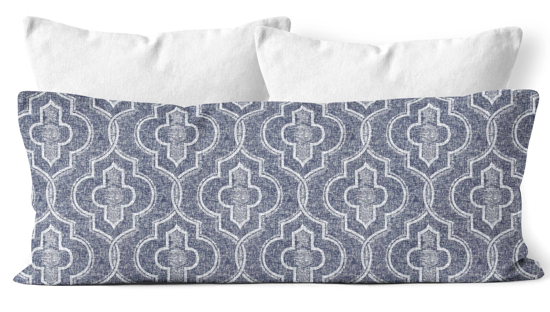 Navy Blue Body Pillow Cover 20x54 In Vintage Indigo Hamptons Style Nautical Bedroom Decor Navy Blue Bedding Body Pillow Case Cotton