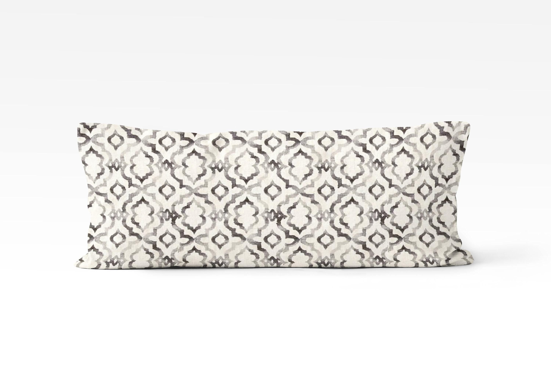 Decorative Body Pillow Cover 20x54 In Black And Cream Boho Bedroom Decor Ideas Geometric Print Body Pillow Case Gypsy Bedroom