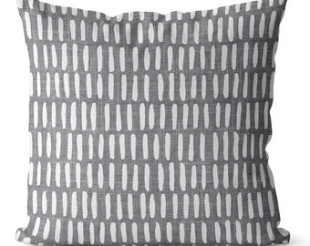 SALE gray  pillow covers 18x18 in., brushstrokes, distressed texture, pillow covers for  gray sofa, ultimate gray, minimalist decor