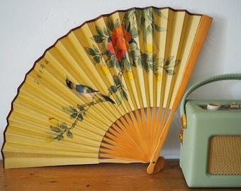 Hand Painted Fan - Vintage Chinese Fan