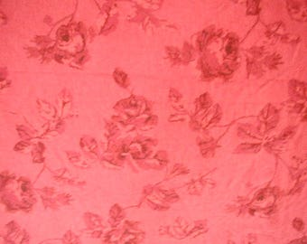 Bed Sheet Set, Red Roses on Red Background,  Queen Bed Size, 1 Flat Sheet, 2 Pillowslips, Cozy Flannel, Quality, Vintage Sheet Set, 3 Pieces