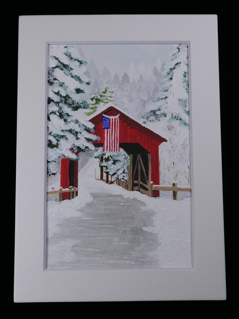 Salute Watercolor Painting 4 x 6 inch matted picture by JadoreArtCreations WC-010
