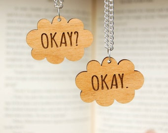 Okay. Okay. TFiOS Inspired Wooden Friendship Necklaces