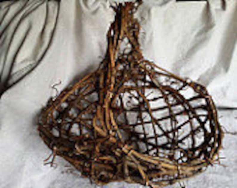 Flower Girl Basket Set of Three Rustic Grapevine Baskets Grapevine Wedding Decoration Bridal Gift Made In Michigan by colonialcraft on Etsy