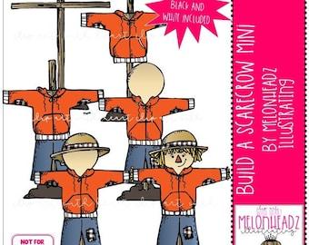Build a Scarecrow clip art - Mini