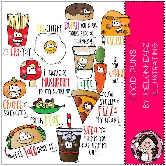 Food Puns Clip Art Etsy