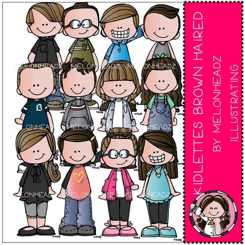 Kidlettes clip art Brown Haired Combo Pack
