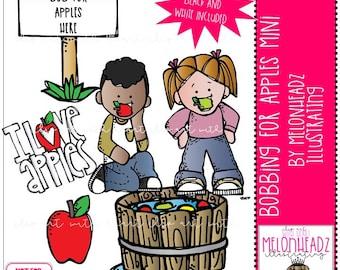 Bobbing for apples clip art - Mini
