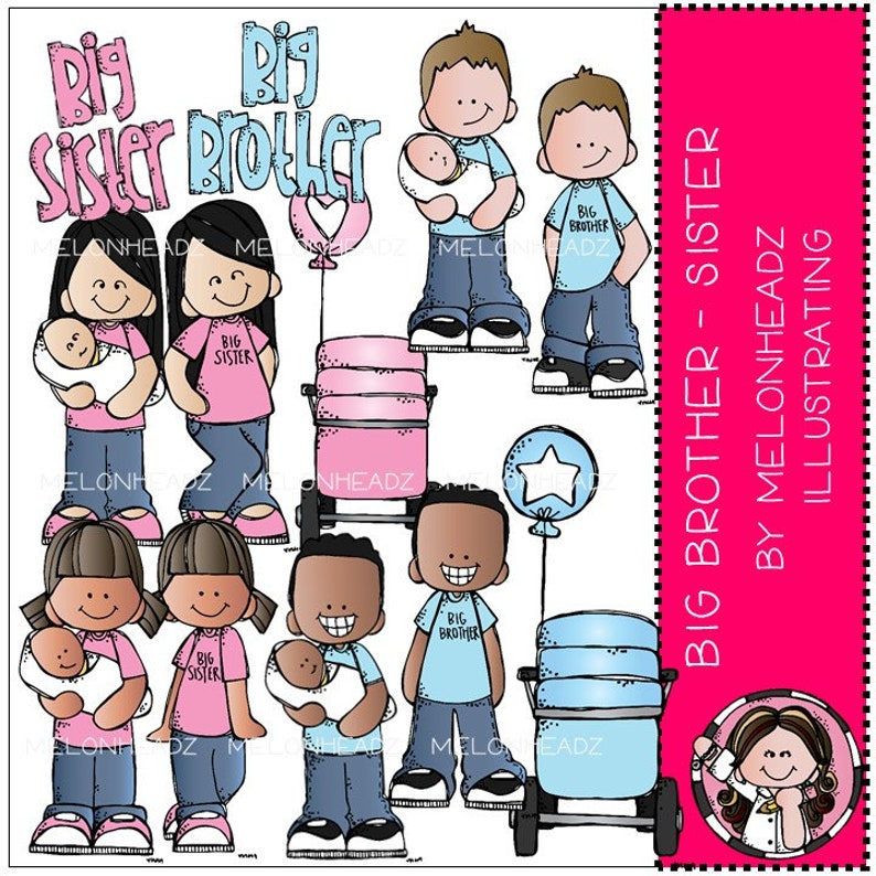 Big Brother Big Sister clip art COMBO PACK