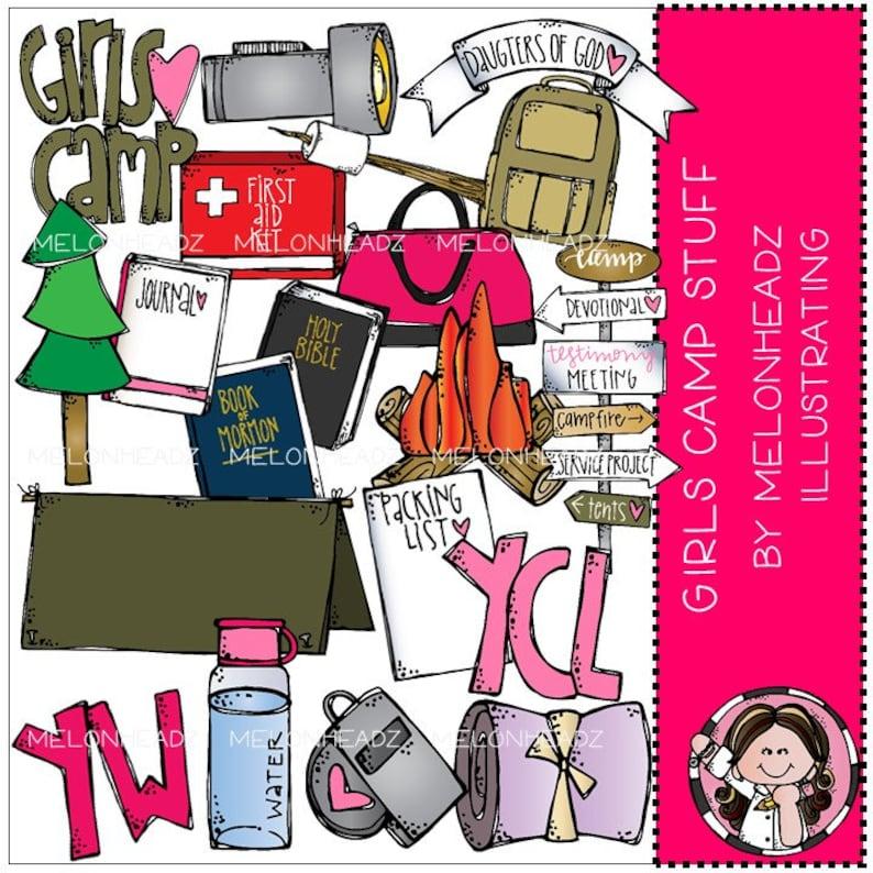 Girls Camp Stuff clip art - LDS