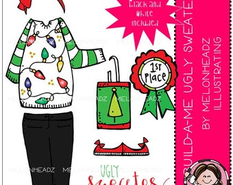 Build-A-Me clip art - Ugly Sweater - Mini