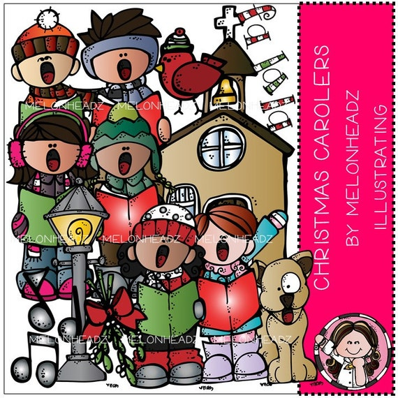christmas carolers clip art etsy rh etsy com animated christmas carolers clipart vintage christmas carolers clipart