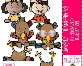 Thanksgiving Hangerz clip art - Mini