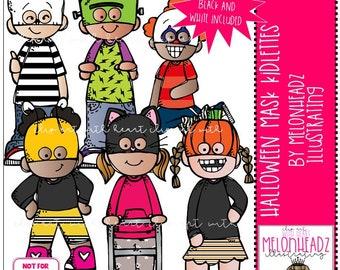 Halloween Mask Kidlettes clipart - Mini