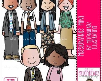 Missionaries (LDS) clip art - Mini