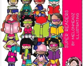 Super Reader clip art - Combo Pack