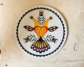 Pennsylvanian Hex Sign By Jacob Zook Doves Hex The Moyer Family Folk Art Pennsylvania Dutch Peace In Marriage 2 Doves Trust Yellow Red Green