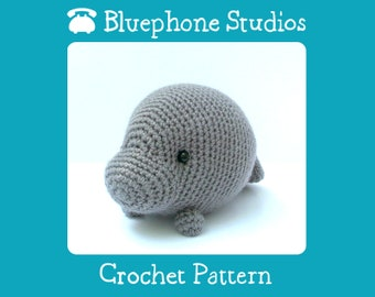 Crochet Pattern: Orlando the Manatee