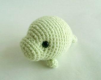 Key Lime the Baby Crochet Manatee