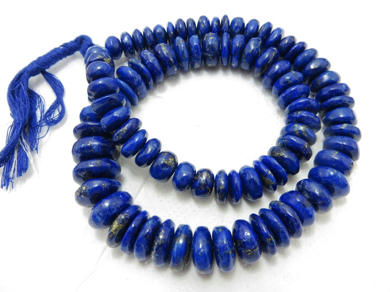 397 CRT 16 Inches Full necklace Natural Color And Natural Stone Lapis lazuli Plan Beads Good Quality Size 8 mm To 15 mm Approx