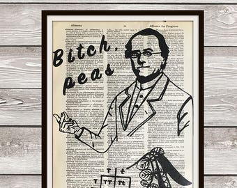 Funny Science Art Print, Biology Print, Genetics Print, Gift for Scientists, Funny Science Joke