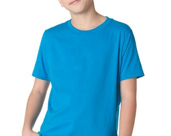 SALE - Unisex youth turquoise shirt with any one of our designs