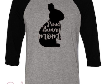 d907fd75 Bunny Mom Shirt Women's Gray T-shirt | Etsy