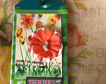 Tag 109 - Green Friendship tag or bookmark