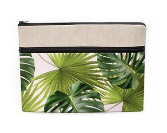 Tropical Laptop Sleeve, Banana Leaf Macbook Bag, Jungle Laptop Sleeve, Monstera iPad Pro Sleeve, Laptop Pocket - tropical palm leaf print