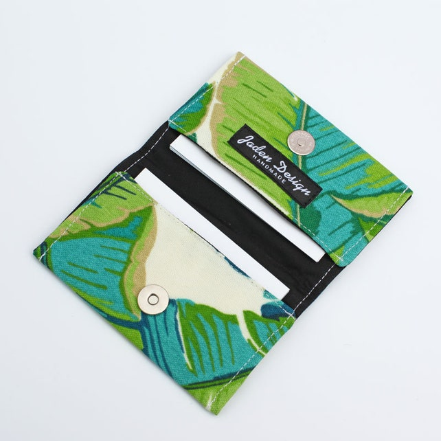 Womens Business Card Wallet Small Fabric Card Holder Gift Card