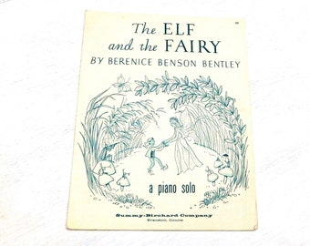 Vintage The Elf & the Fairy Sheet Music - 1924 - from DustyMillerAntiques