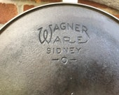 Vintage Wagner Cast Iron Deep Skillet 8 with Heat Ring 1058n - 1924-1935 - from DustyMillerAntiques