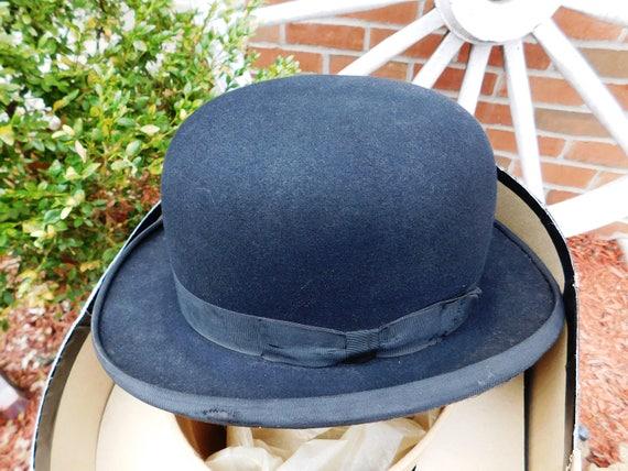 Vintage Sarnoff Irving Hat Stores Black Homburg De
