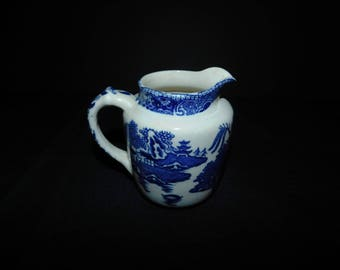 Vintage Wedgwood China Blue Willow Creamer - 1906+ - from DustyMillerAntiques