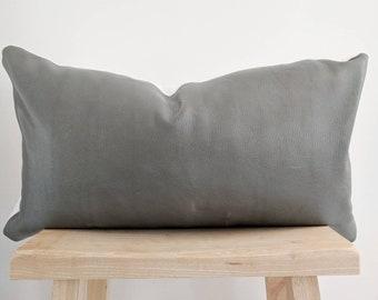 leather lumbar pillow cover