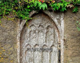 Kinsale Ireland, Old door, historical  photograph