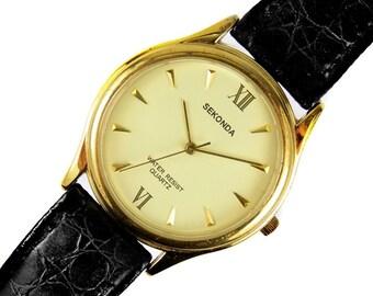 03019a03ee5a Sekonda Mens Gold Plated Quartz Wrist Watch Japanese Movement Gift Boxed