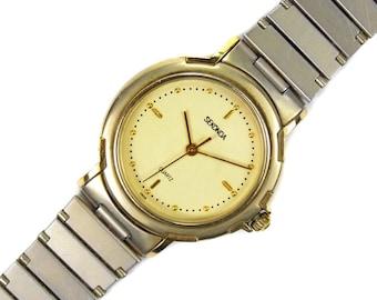 6125764aea98 Vintage Gold Plated Wrist Watch Sekonda Quartz Unisex Gift Boxed
