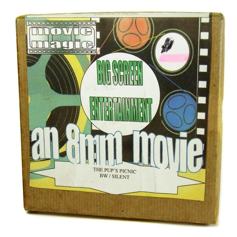 1 x Vintage 8mm Cine Film on 200ft Reel with a Cartoon Boxed