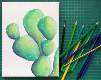 Cactus water color painting