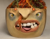 XLARGE YARN BOWL - Ready to ship -Wheel thrown, hand altered and sculpted. This listing is for the actual bowl pictured.