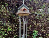 WIND CHIME - Hand sculpted. Hang this lovely piece outside & see who comes to visit your patio or garden.